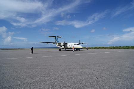 与那国空港 プロペラ機