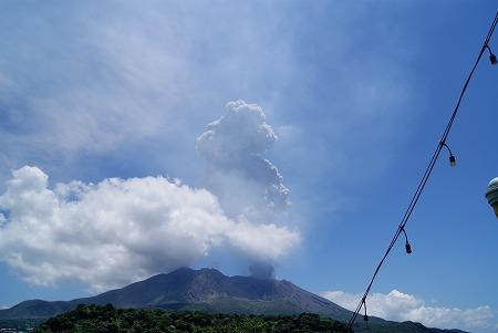 桜島フェリー 御岳 噴火