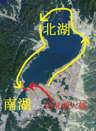 琵琶湖一周のルート
