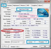 CPUをOverClockして動作周波数:4.20GHzにした状態(常用)