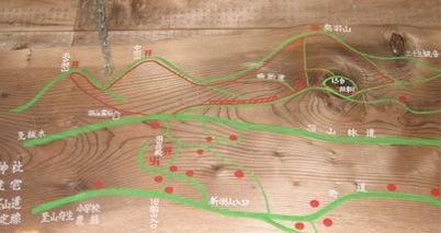 羽山神社・拝殿前案内図