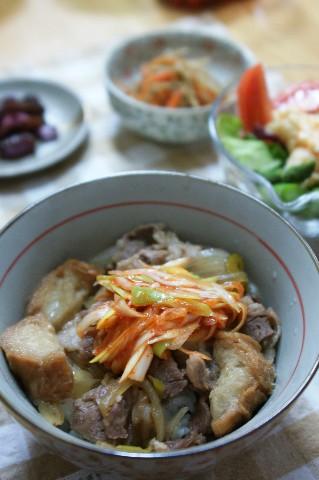 ねぎキムチ牛丼