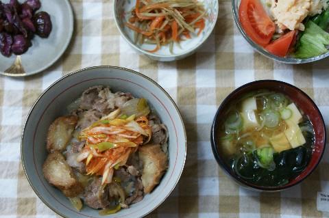ねぎキムチ牛丼2