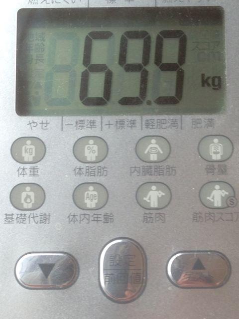 体重計69.9