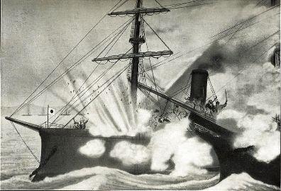 甲鉄に接舷する回天