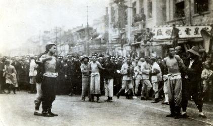 中国上海事件の際の処刑写真