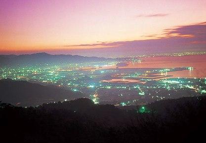 三ヶ根山の夜景