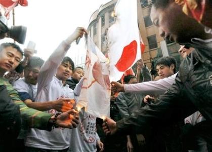 支那重慶の反日デモ