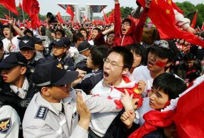 長野五輪で兇徒と化した中国人
