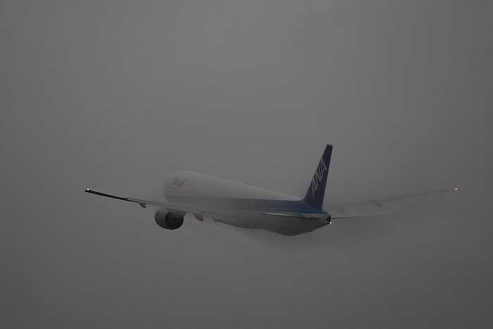 ANA B777-381 ANA36@リサイクルセンター前(by 40D with EF100-400/4.5-5.6L IS)