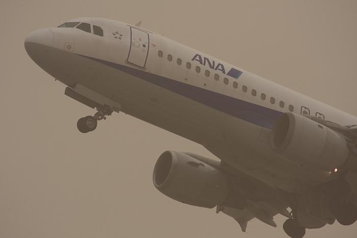 ANA A320-211 ANA731@RWY14Rエンド(by 40D with SIGMA APO300/2.8EX DG+APO TC2x)