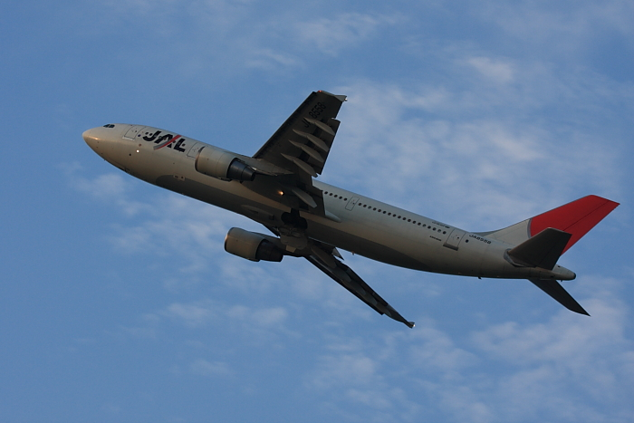 JAL A300-622R JAL130@リサイクルセンター周辺(by 40D with EF100-400/4.5-5.6L IS)
