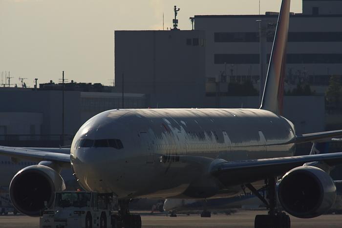 JAL B777-346 JAL2081機材@エアフロントオアシス下河原(by 40D with SIGMA APO300/2.8EX DG+APO TC2x)