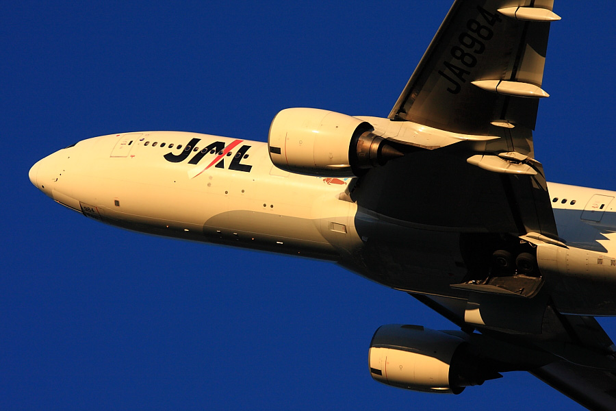 JAL B777-246 JAL126@リサイクルセンター周辺(by EOS40D with EF100-400/4.5-5.6L IS)