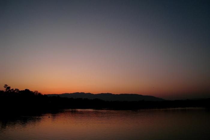 今日の残照の空@昆陽池公園(by IXY DIGITAL 910IS)