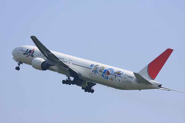 JAL B777-346 JAL2001@リサイクルセンター周辺(by 40D with EF100-400/4.5-5.6L IS)