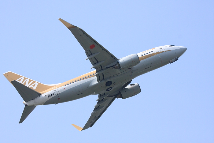 ANA B737-781 ANA513@下河原緑地公園(by 40D with EF100-400/4.5-5.6L IS)