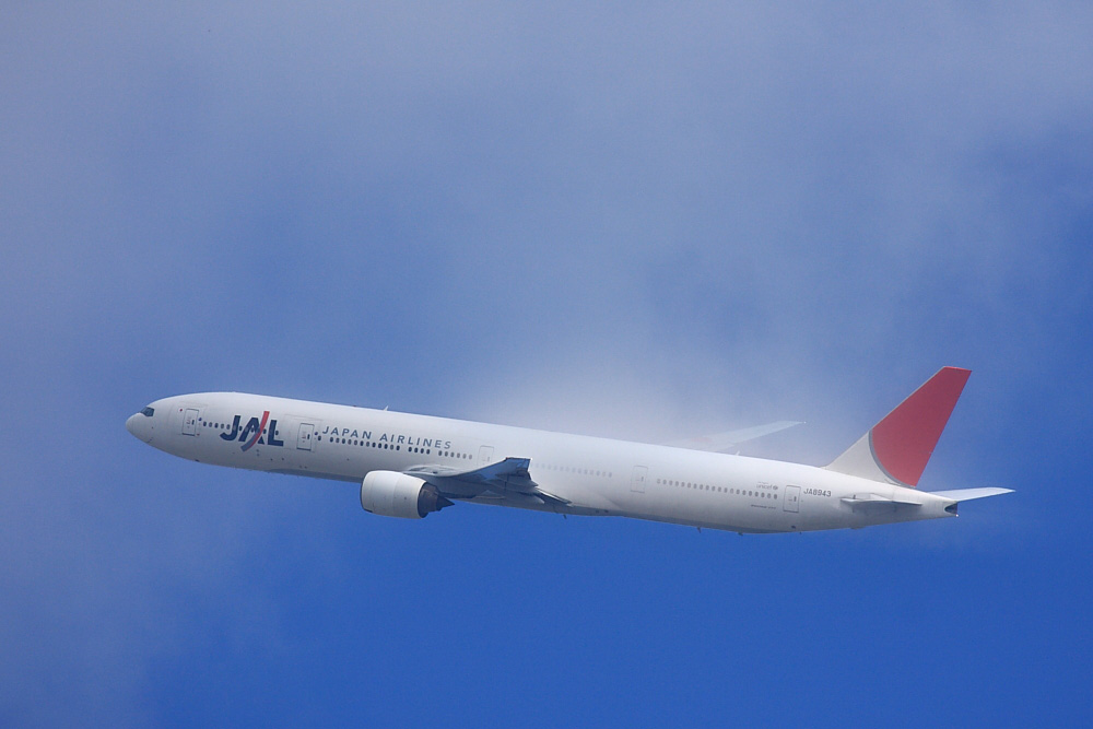 JAL B777-346 JAL2001@瑞ヶ池公園(by EOS40D with EF100-400/4.5-5.6L IS)