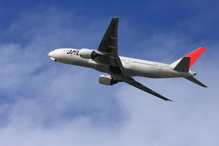 JAL B777-246 JAL124@リサイクルセンター周辺(by 40D with EF100-400/4.5-5.6L IS)