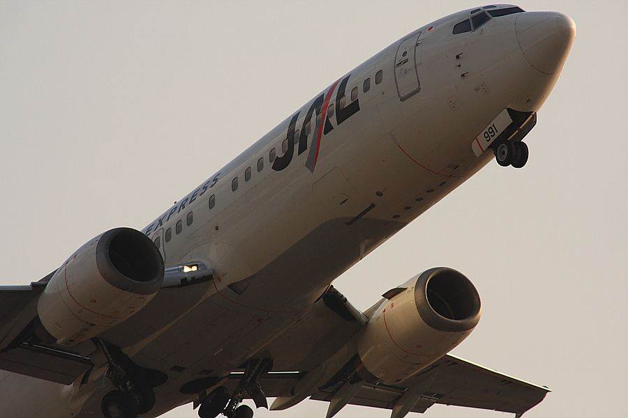 JEX B737-446 JEX2211@下河原緑地公園展望デッキ(by EOS40D with SIGMA APO 300mm F2.8 EX DG/HSM+APO TC2x EX DG)