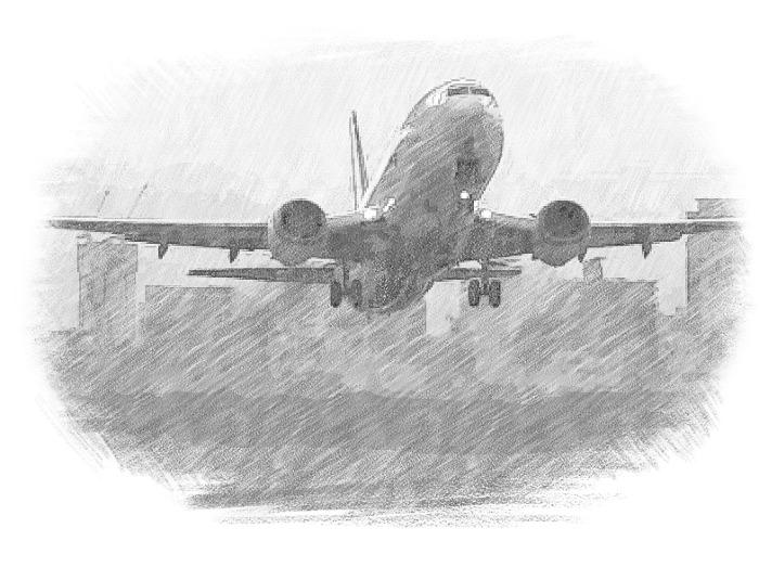 同期の同僚がくれた自分の撮った写真の鉛筆画(by Android)