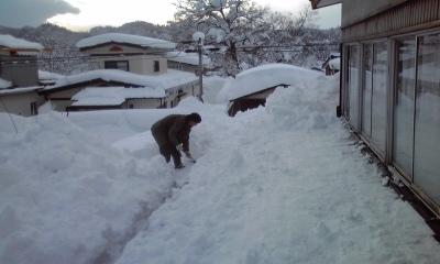 秋田、雪かき