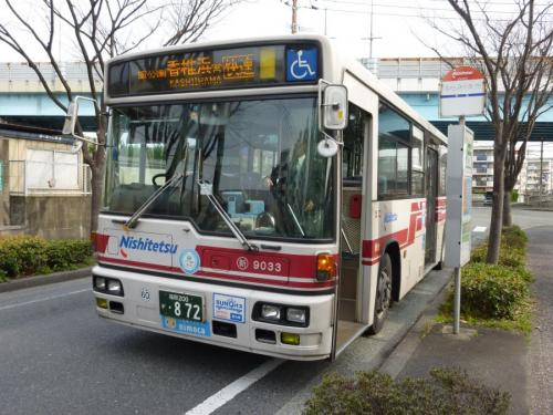 香椎浜営業所にて新宮9033の箱崎埠頭快速