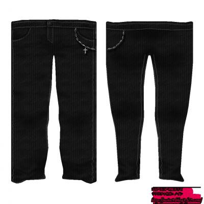 黒・ズボン(配布用)