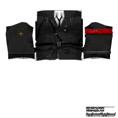 黒・軍服・ノーマル丈(配布用)