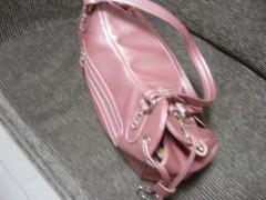 ピンクの輸入バッグ