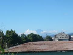 ボタ山みたいな富士山