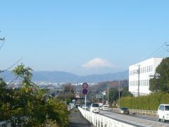 善波峠からの富士山