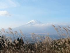 間に合った長尾峠からの富士山