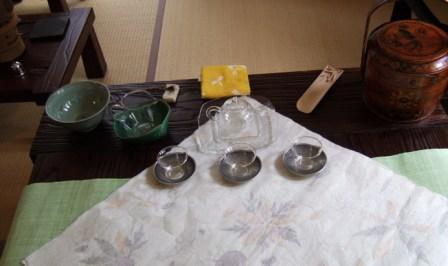 お茶会 米岡さん宅 テーブル