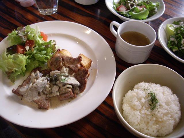 豚ロースのグリル~キノコクリームソース~