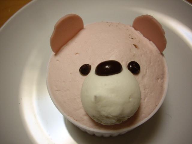 菓乃実の杜のくまちゃんケーキ