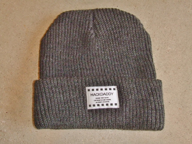 MDY KNIT BEANIE CHARCOL GRAY