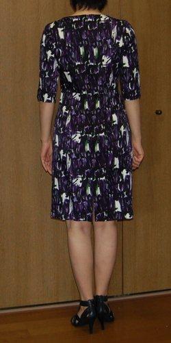 Printed dress back