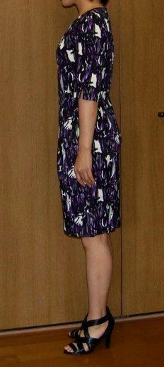 Printed dress side