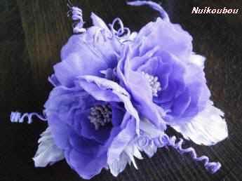 紫のつる薔薇