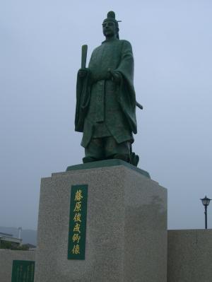 藤原俊成銅像