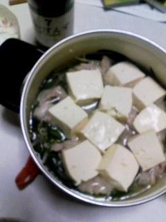 お豆腐inタッキー鍋