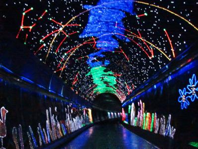 広瀬トンネル壁面装飾