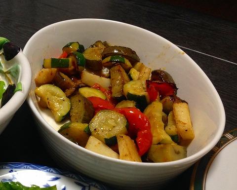 夏野菜のオリーブオイル焼き