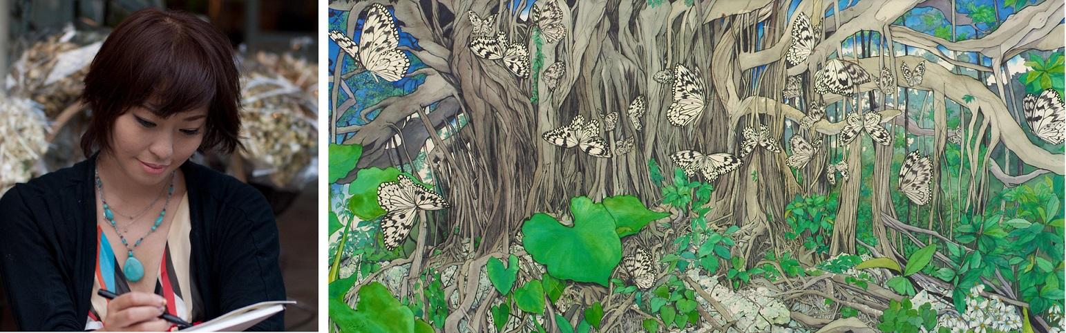喜界島の神秘に魅せられた在京女性画家・近藤麗子さん