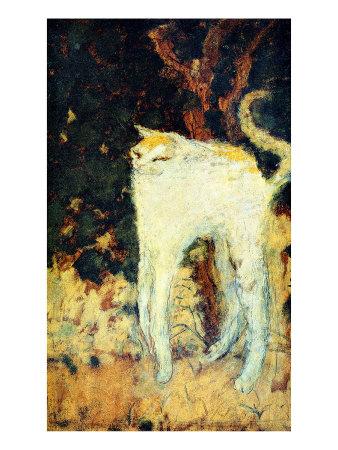 ボナール「白い猫」