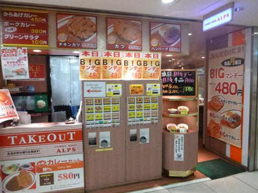 東京駅八重洲地下街カレーショップアルプス006