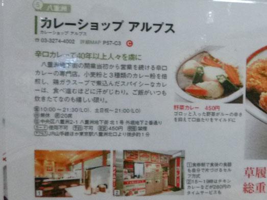 東京駅八重洲地下街カレーショップアルプス017