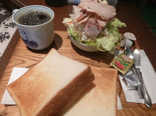 銀座喫茶アメリカンのサンドイッチモーニングセット010