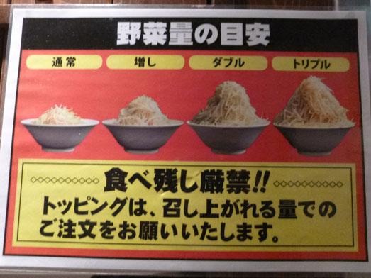 ジャンクガレッジ東京ラーメン豚増し野菜増しダブル010